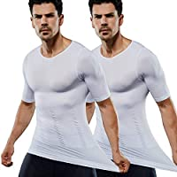 加圧インナー コンプレッションウェア【品質保証】 筋肉 Tシャツ コンプレッションインナー お腹引き締め スポーツウェア 補正下着 メンズ 2018 ( 2セット)