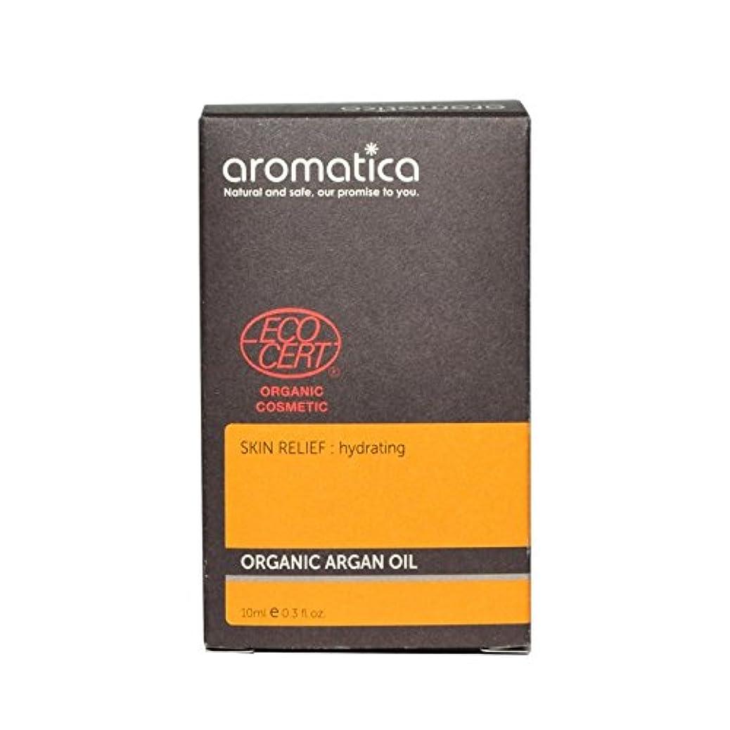 一握り絶え間ないガラスaromatica Organic Argan Oil 10ml (Pack of 6) - オーガニックアルガンオイル10ミリリットル x6 [並行輸入品]