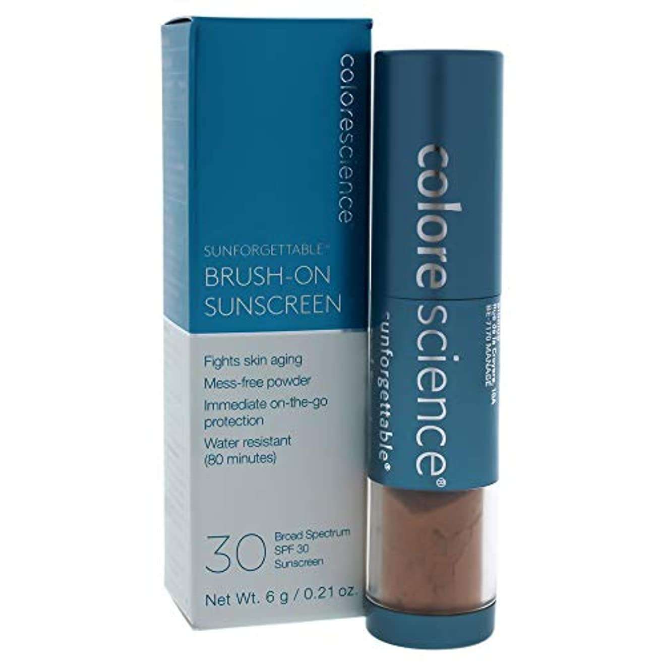 第二に資格情報特にSunforgettable Brush-On Sunscreen SPF 30 - Deep