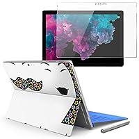 Surface pro6 pro2017 pro4 専用スキンシール ガラスフィルム セット 液晶保護 フィルム ステッカー アクセサリー 保護 ユニーク 花 フラワー 人物 006962