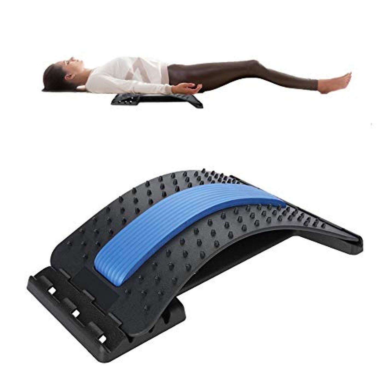 夜明けに落胆させる偏見背中マッサージャー 腰部サポート、腰部の背もたれ ストレッチャー装置 ストレッチリラックス脊柱 減圧枕 痛み緩和 姿勢矯正器