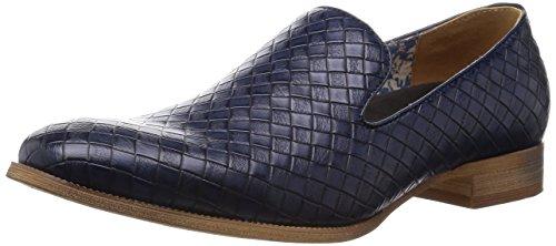 83d6eaf1e3ad [グラベラ] スリッポン メンズ カジュアルシューズ オペラパンプス 型押し イントレチャート 革靴 黒 白