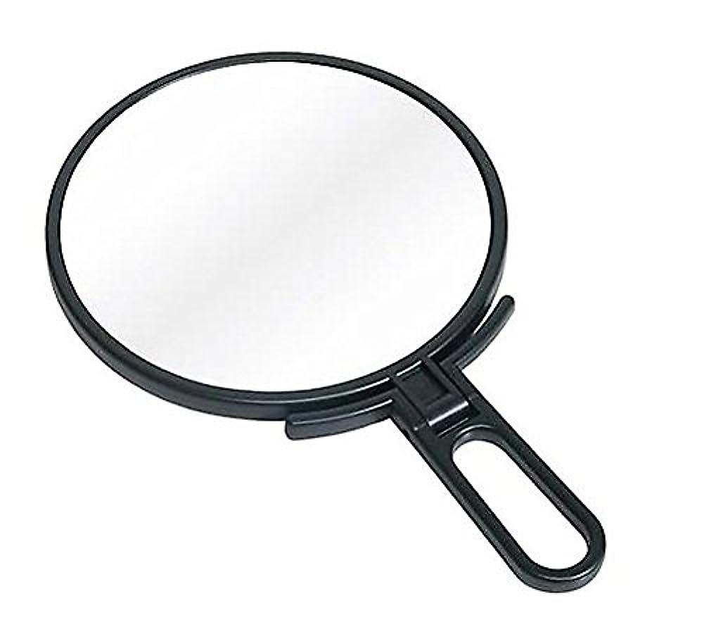 月曜日デジタル疑い鏡 ハンドミラー 折立 No.1500 ブラック