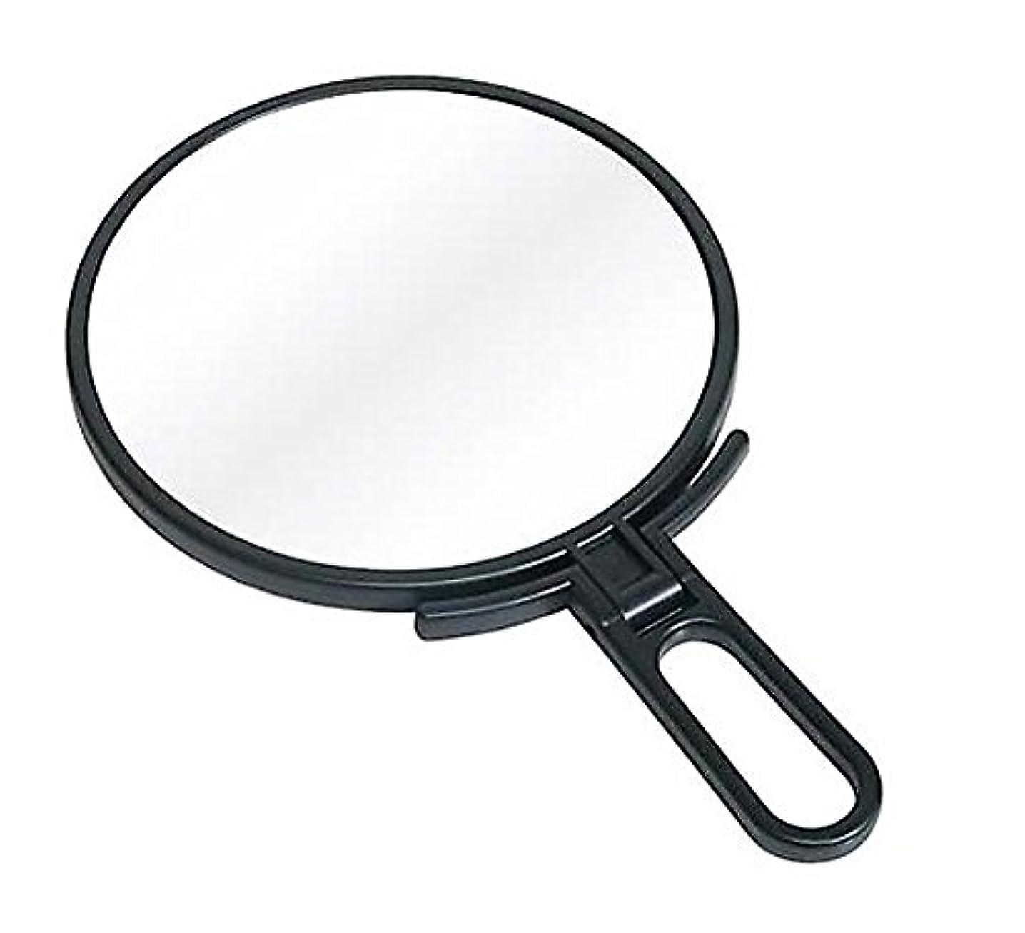 買い手司法リングバック鏡 ハンドミラー 折立 No.1500 ブラック