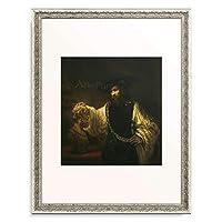 レンブラント・ファン・レイン Rembrandt Harmenszoon van Rijn 「ホメロスの胸像を見つめるアリストテレス」 額装アート作品
