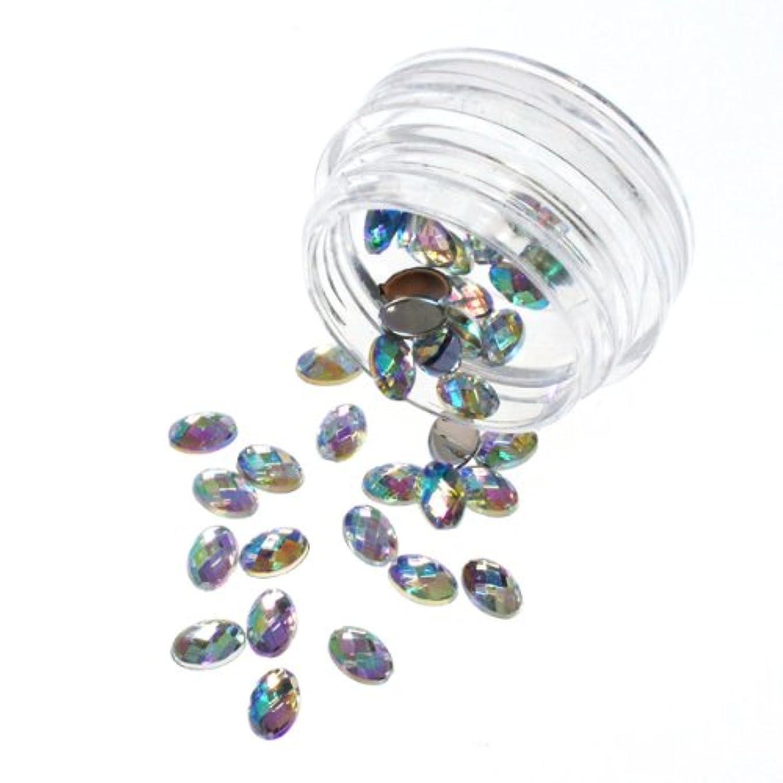 メアリアンジョーンズリサイクルするお客様宝石カットのアクリルラインストーン オーロラカラー 6mm