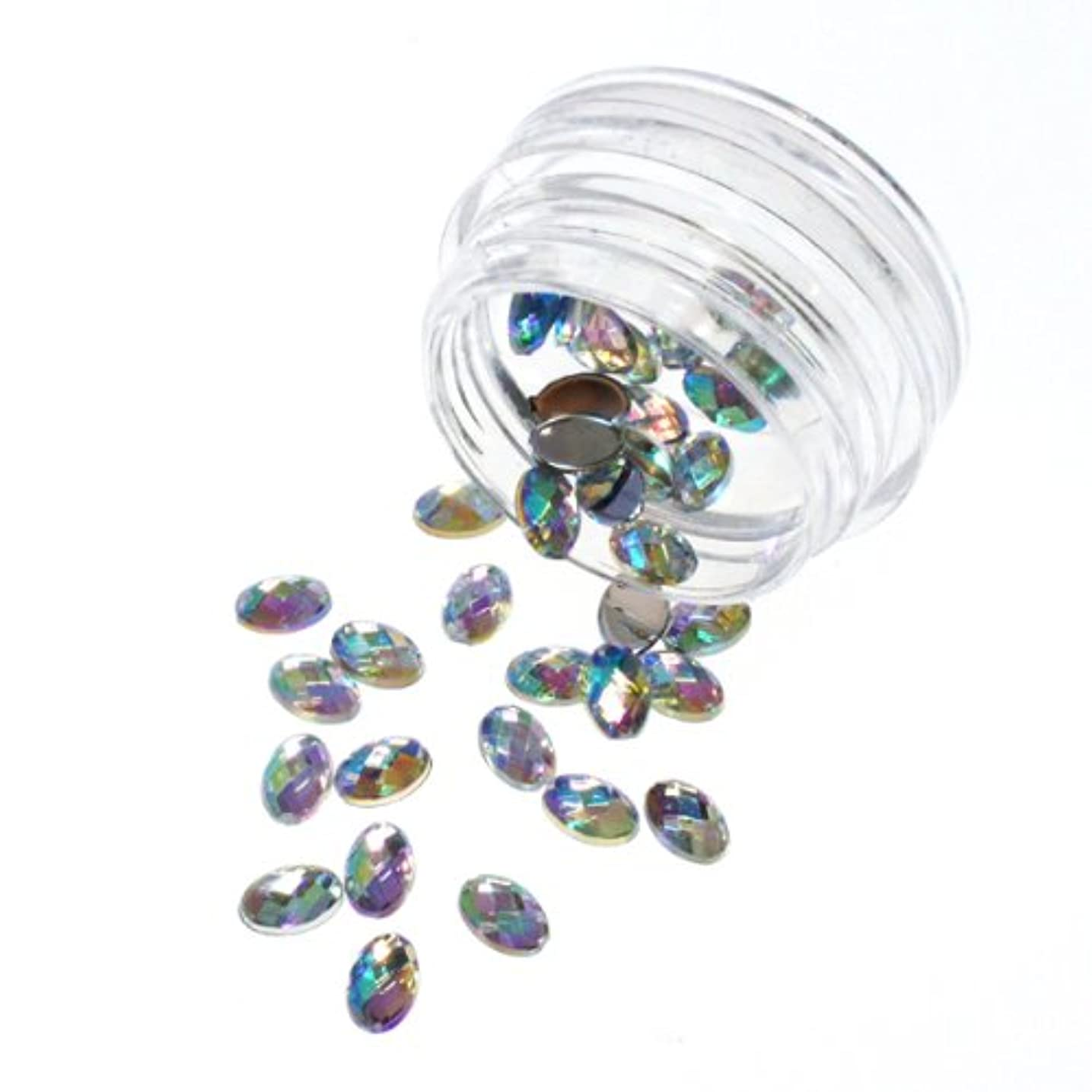 インサート騒乱満員宝石カットのアクリルラインストーン オーロラカラー 6mm