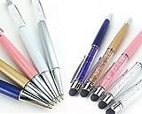キラキラスマホタッチペン(全5色)(ケース入)(送料込)スワロ ボールペン機能付(ピンク)