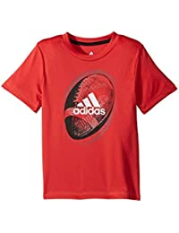 (アディダス) adidas キッズTシャツ Optic Sport Ball Tee (Toddler/Little Kids) Bright Red 4 Little Kids (4歳) One Size