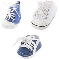 Dovewill 3対 キャンバス スニーカー シューズ 靴 18インチアメリカンガールドール人形用 アクセサリー
