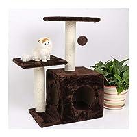 キャットツリー キャットクライミングフレーム、マルチレイヤサイザルキャットツリーキャットスクラッチボードキャットツリータワーウェア耐性とスクラッチングマルチカラー 猫の巣 (色 : Brown)
