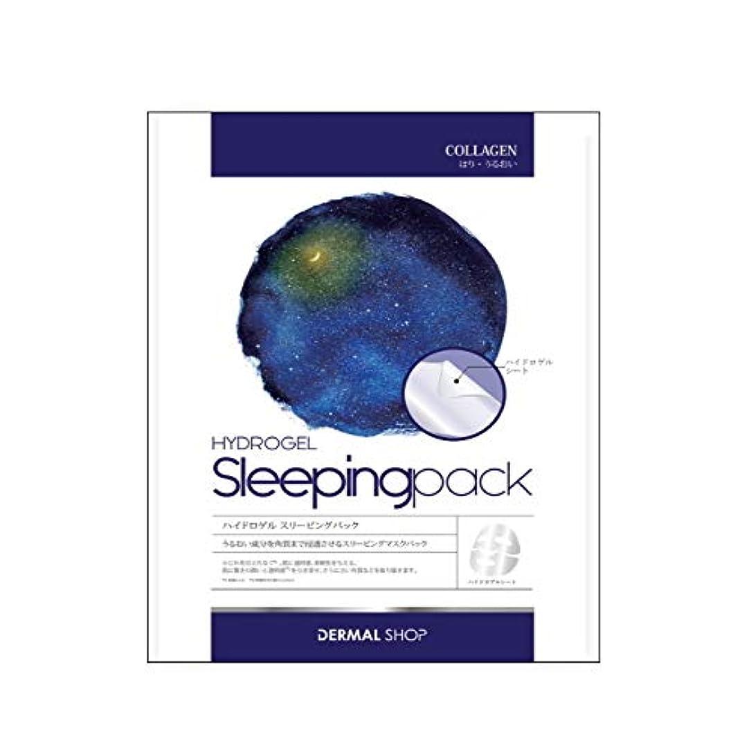 脊椎次休憩するDERMAL SHOP(ダーマルショップ) ダーマルショップ ハイドロゲルスリーピングマスクパック 5枚入り 2時間パック フェイスマスク 27g