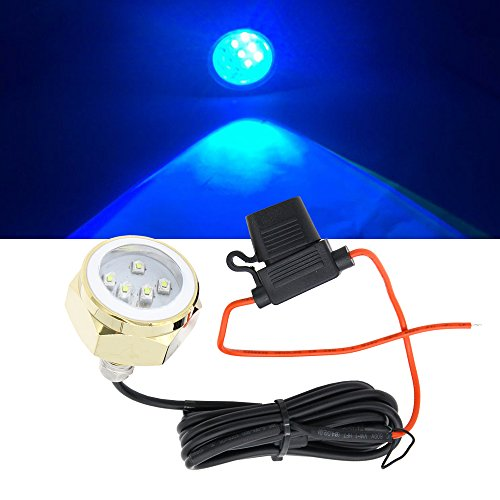 27W Blue Cree LED Boat Drain Plug Underwater Light, 9X3W/27W, Garber-fishing, Swimming, Diving, 1.3cm NPT Boat Underwater