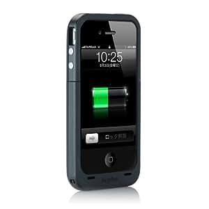 【日本正規代理店品】mophie juice pack plus for iPhone 4S/4 ブラック MOP-PH-000010