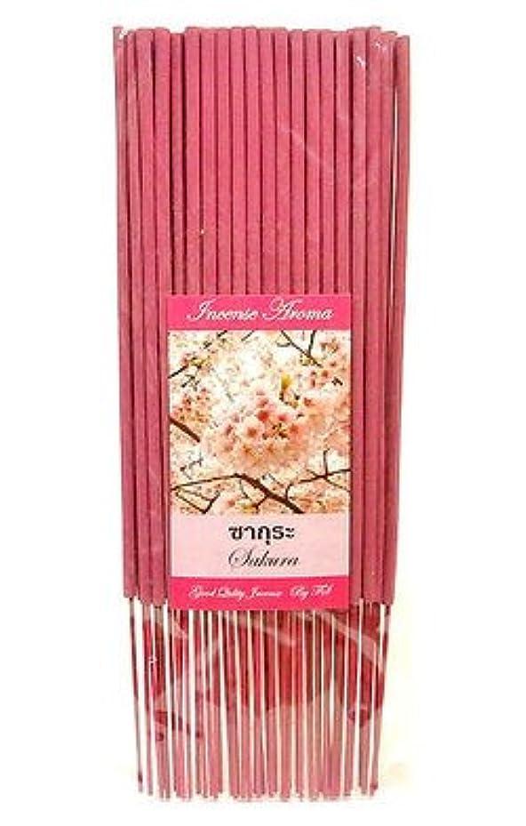 赤外線確保する手段タイのお香 スティックタイプ [SAKURA/サクラ] インセンスアロマ 約50本入りアジアン雑貨