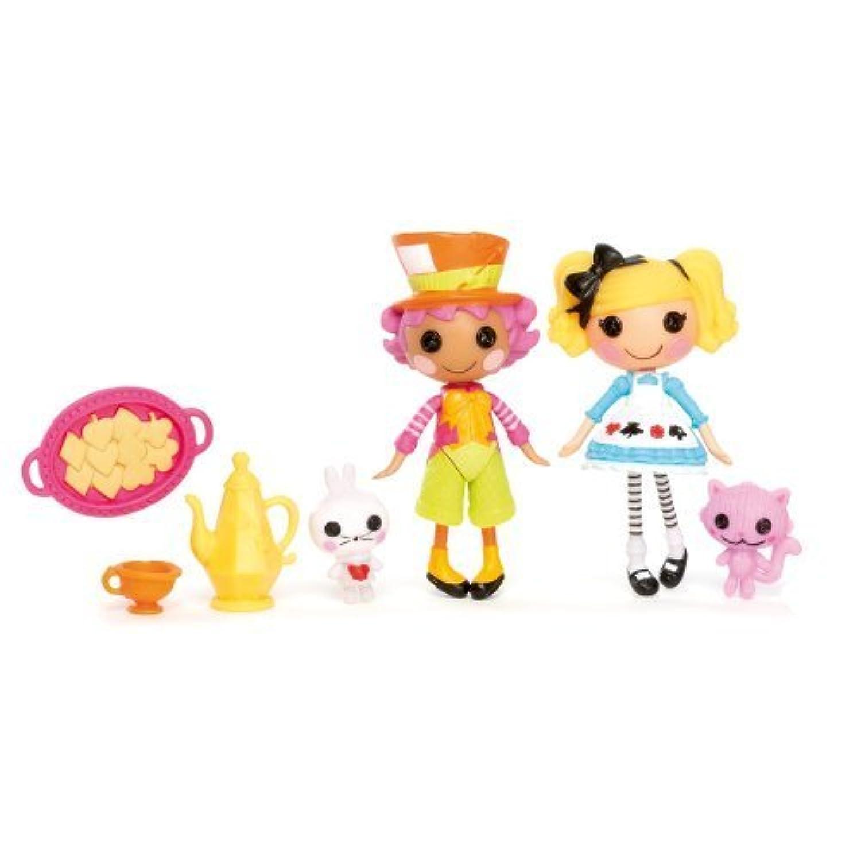 輸入ララループシー人形ドール Lalaloopsy Mini Figure 2Pack Wacky Hatter Alice in Lalaloopsyland [並行輸入品]
