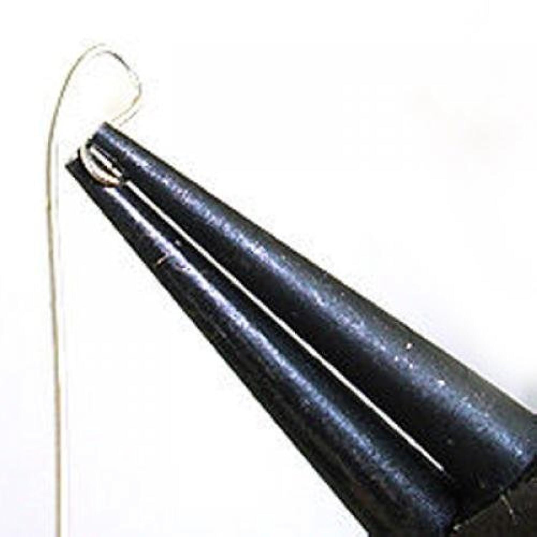 Fenteer 2個 ラウンドノーズ プライヤー 趣味 クラフトビーズ ジュエリーツール ブラック 炭素鋼
