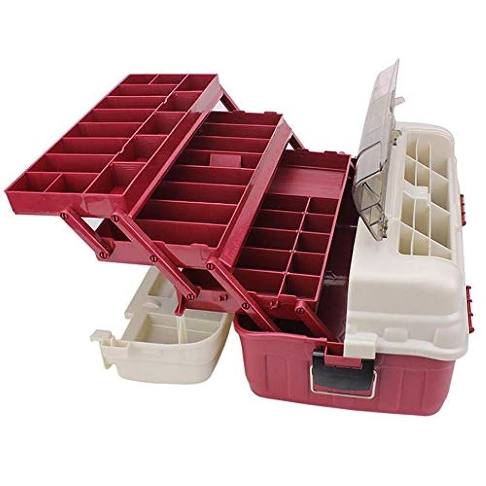 診療所規制着るSeawng 医学箱 化粧ケース 釣りタックルボックス引き出し 高強度 耐衝撃性 4層 ハンドヘルド 大容量 便携式 釣りタックルボックス ルアーケース 餌箱
