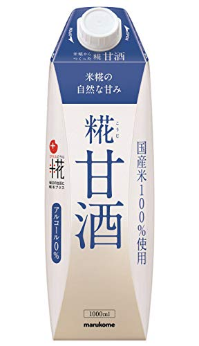 マルコメ プラス糀 米糀からつくった糀甘酒LL 【国産米100%使用】 1000ml×6本