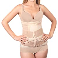 3 in 1 Postpartum Belly Support Recovery Wrap - Belly Band for Postnatal, Pregnancy, Maternity - Girdles for Women Body Shaper - Tummy Belly Bandit Waist Shapewear Belt (One Size)