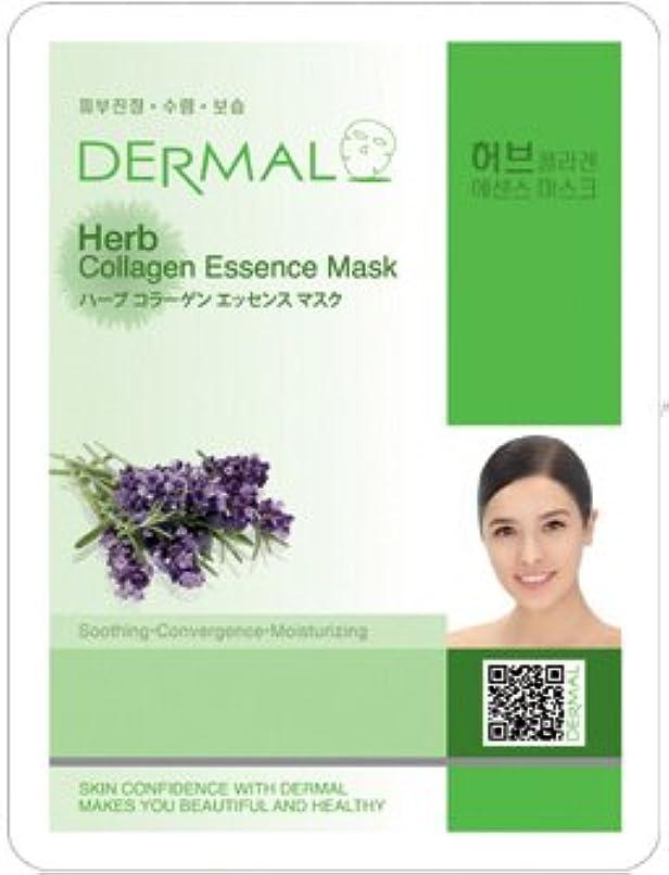 異常な実験室カウントシートマスク ハーブ 10枚セット ダーマル(Dermal) フェイス パック