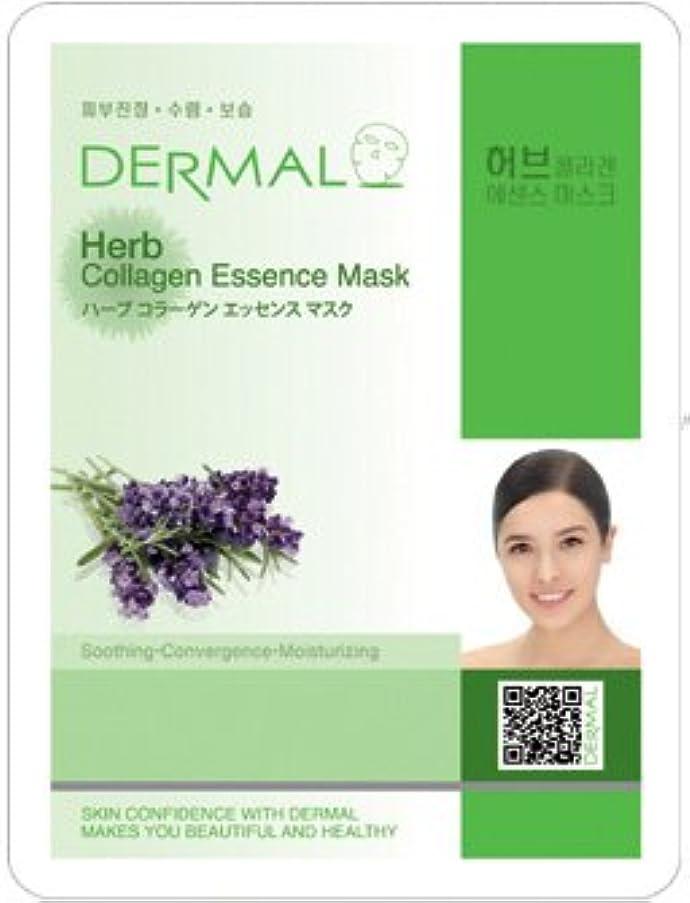 文字通り核いいねシートマスク ハーブ 10枚セット ダーマル(Dermal) フェイス パック