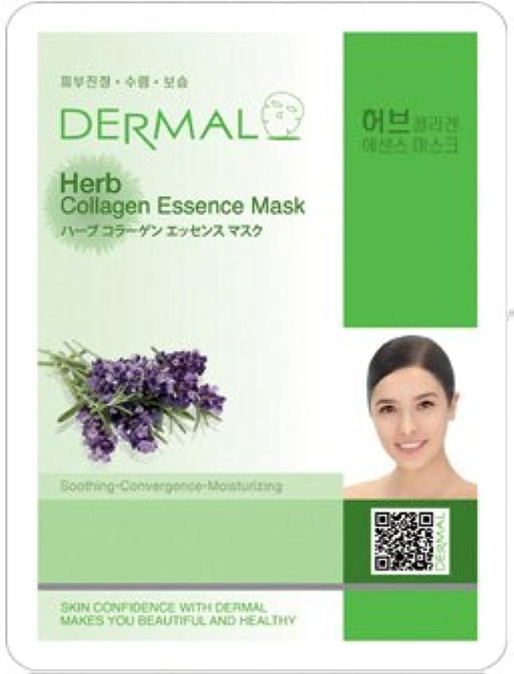 スチール振動する刺繍シートマスク ハーブ 10枚セット ダーマル(Dermal) フェイス パック