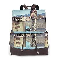 かわいいレディースレザーバックパック Selena Gomez レザーガールバックパック、学校、登山、ビジネス、仕事、旅行、買い物、デート