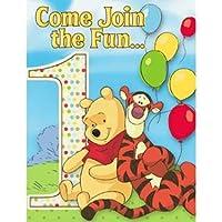 Disney Pooh and Pals 1st Birthday Invitations ディズニープーさんと仲間達第一誕生日の招待状♪ハロウィン♪クリスマス♪