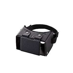 エレコム 3D VR ゴーグル 組立式 固定バンド付き 折りたたみ可 カーボンブラック P-VRG01M1