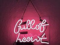 ネオンサイン ライトフルオブハート ピンク ベッドルームサイン アートワーク ウォールサイン ガラスライト 女の子用 ホームビールバー パブ レクリエーションルーム装飾 10 x 10インチ