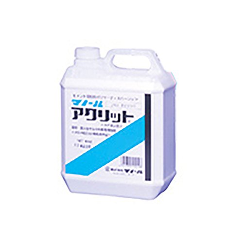 アクリット(カチオン系) 4kg/缶 ポリマー・接着剤 アクリル樹脂エマルジョン モルタル接着増強、吸水調整 マノール 共B 【代不】