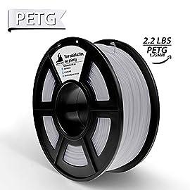 3D Hero3DプリンターPETG 1.75mm 1KG 白フィラメント造形材料,サイズ精度+/- 0.02 mm無臭,3Dプリンタおよび3Dペンに適し、良質な原材料(光沢のある表面,高い透明度) PETG製品パラメータ: ワイヤサイズが安定: 1.75MM PETG フィラメント(±0.02MM) 重量:純重量1KG、総重量1.3KG 内含ま: 1巻 3Dプリンタ フィラメントPETG 白(光沢のある表面,高い透明度) 推奨印刷パラメータ:印刷温度230-250℃;加熱ベッ...