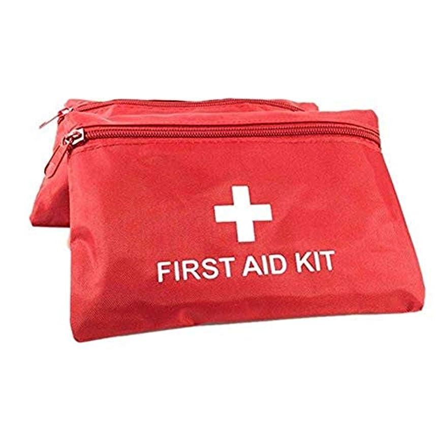 パーク外国人船外JJJJD ホームオフィス職場旅行キャンプのためのミニ空の応急処置キットバッグ防水緊急医療オーガナイザーバッグ