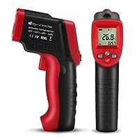 EC Technology 赤外線放射温度計 非接触レーザー温度計 デシタル測定器 【-50 ~+420℃】デジタル温度計 赤外線温度計 ガンタイプ 1点購入で120ポイント取得