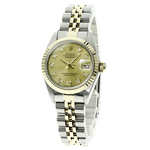 ROLEX(ロレックス) デイトジャスト 10Pダイヤモンド 腕時計 K18イエローゴールド/SS レディース (中古)