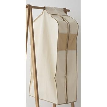 エーワン 洋服カバー WORTHY WORK PLUS キャンバスクローゼット S ナチュラル SA315