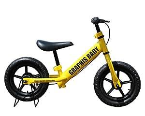 選べる15色! 子ども用ペダルなし自転車 バランスバイク トレーニングバイク ノーパンクタイヤ12インチ ハンドル保護カバー・練習用ブレーキ・専用スタンド付き 子供 幼児