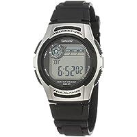 Casio W-213-1AV Five Alarms Silver Black Digital Sports Watch