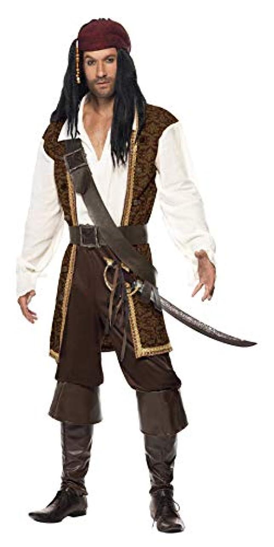 入り口ピッチャー情熱的海賊 茶 衣装、コスチューム 大人男性用 High Seas Pirate