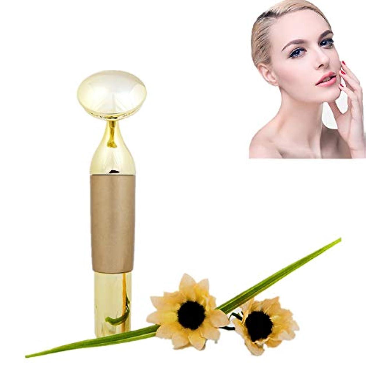 痛い層パス7022フェイスマッサージ電気フェイスローラーエネルギー美容バー用インスタントフェイスリフトアンチリンクル肌引き締めvフェイス美容ツール