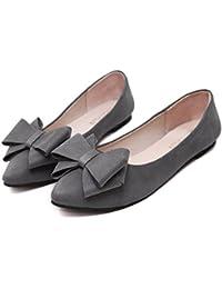 (KiKi&Gil) レディース フラット シューズ パンプス ローヒール ペタンコ 靴 歩きやすい リボン