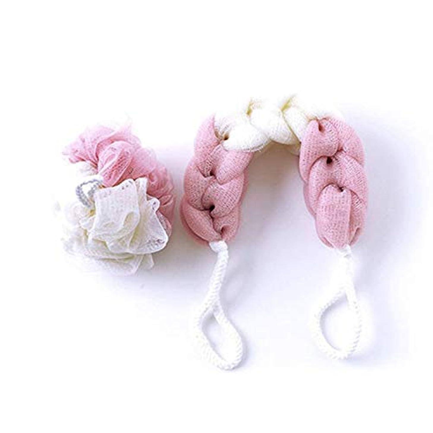 誕生フェザー名誉バスルーム用品 2196入浴バスフラワーバスボールバスタオルセット (色 : ピンク)