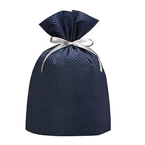 包む エンボスギフトバッグ 巾着バッグL T-2721-L ブルー