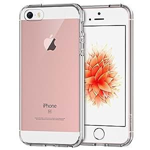JEDirect iPhone SE 5 5s ケース 衝撃吸収バンパー アンチスクラッチ(クリア)