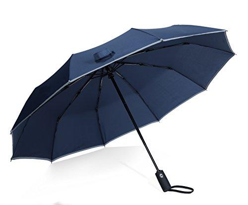 折り畳み傘 ワンタッチ自動開閉 折りたたみ傘 10本骨 反射テ...