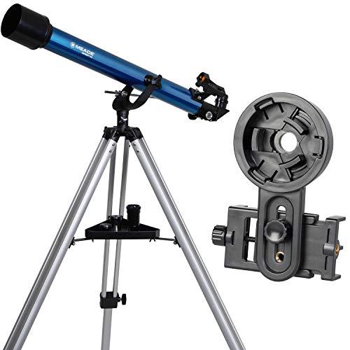 MEADE 天体望遠鏡 スマホで星を撮ろうセット AZM-60SA 口径60mm 焦点距離800mm 屈折式 経緯台 スマホアダプター付 921005