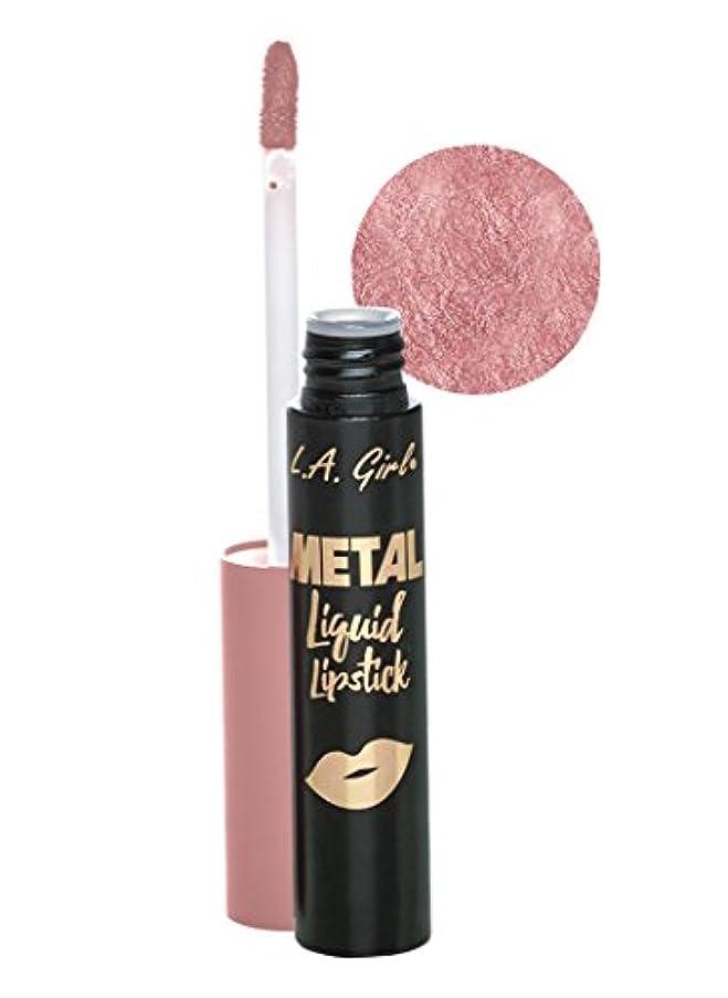 ジョージエリオット相対的モニターL.A. GIRL Metal Liquid Lipstick - Smolder (並行輸入品)