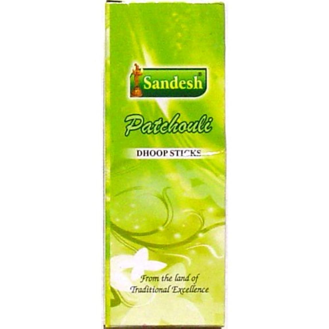 無力郵便物ずっとSandesh Patchouli Dhoop Incense – 10ログperボックス – のセットで販売4ボックス