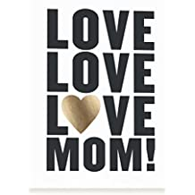 Minted Modern Foil-Pressed Mother's Day Card (Love Mom)